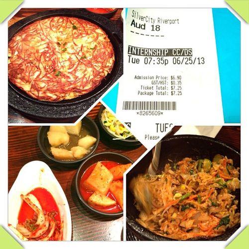 看了好看的電影,然後找不到東西吃。然後跑到大長金吃! Hkig Hkboy Yvr UBC year2 friends movie internship scene korean food taiwan taiwangirl