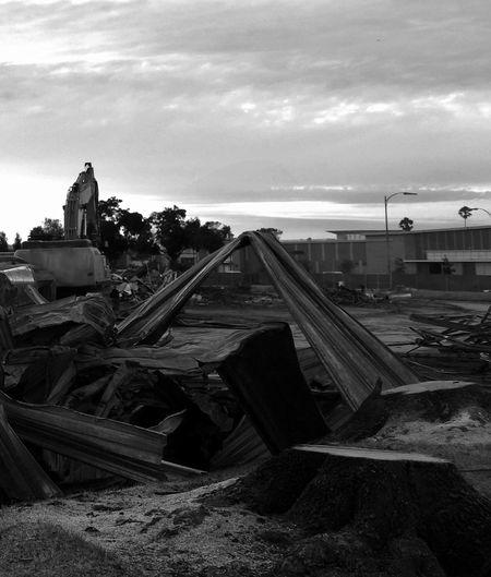 Demolition Demolition Zone Monochrome Excavator Blackandwhite