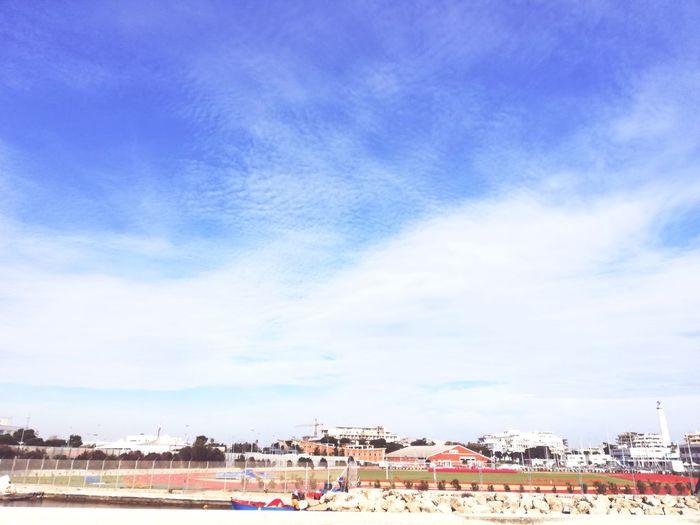 City Sea Blue Sky Cityscape