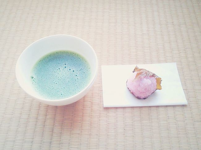 桜餅 Japanesesweets Spring 春 抹茶 Powdered Green Tea And Japanese Sweets Green Tea Powdered Green Tea