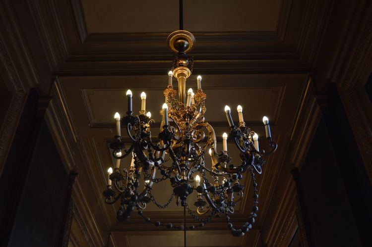 Chandelier Illuminated Lighting Equipment Low Angle View Indoors  Luxury No People Hanging Day Paris Paris, France  Holiday Ópera De Paris