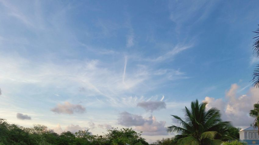 Landscape Dramatic Sky Cloud Formations Clouds And Sky Early Morning St.Croix, US Virgin Islands