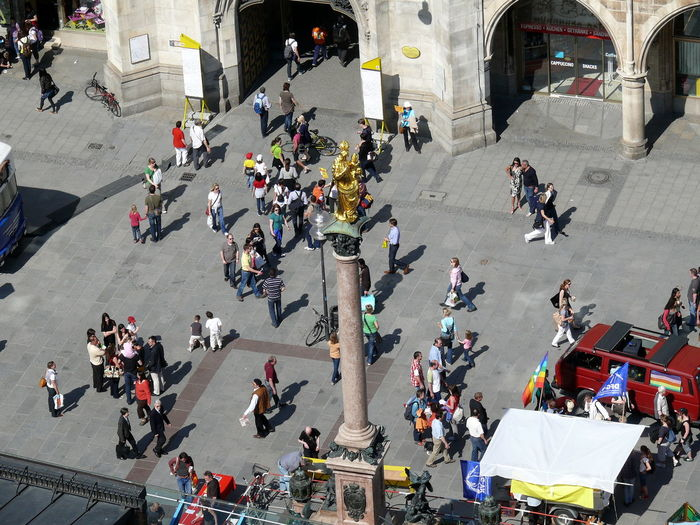 Adult Adults Only Architecture City Crowd Day High Angle View Large Group Of People Marienplatz Marienplatzfoto *-* Mixed Age Range Munich München Outdoors Parade People Real People