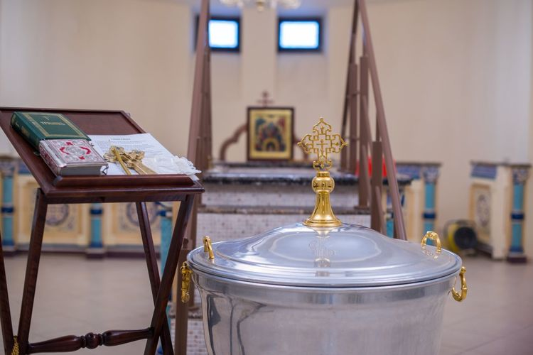 Close-Up Of Christian Orthodox Objects