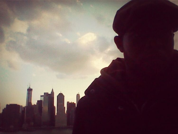 NYC In Brooklyn I'm Me In Silhouette