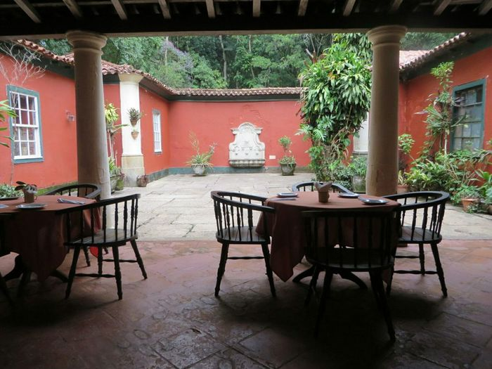 A peaceful place to get a bite in the middle of Tijuca's Forest. A romantic dinner there sounds good too. Relaxing Enjoying Life Travel Nice Atmosphere Mealtime Hiking Day Hidden Gems  Wine Moments Breathing Space