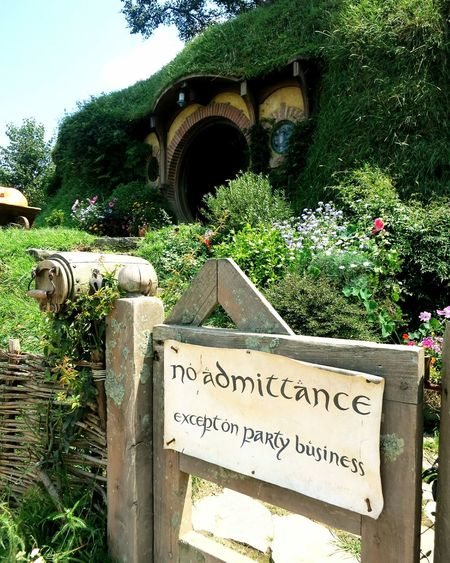 no admittance - except on party business Shire Hobbit Hobbiton Bilbobaggins New Zealand Newzealand Traveling Travel Backpacker Lord Of The Rings Neuseeland