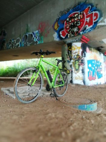 Bicycle Graffiti Street Art No People Day Built Structure Indoors  Multi Colored Architecture City Fuldabrücke Brigdeovertroutwater Architecture Brigde Fulda Fuldatal Fulda/Gemany Fulda/Hessen