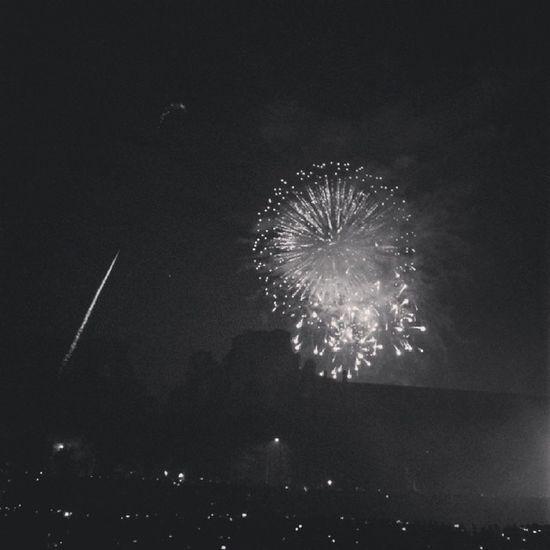 Roma Capodanno Circomassimo Concerto 2014 fireworks fuochi igersroma igersitalia bw newyear