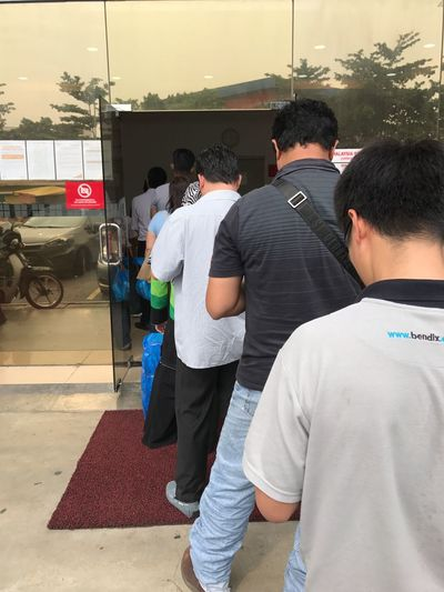 Long queue. Real People Outdoors Post Office Pick And Drop Multi Racial Reflections EyeEmNewHere