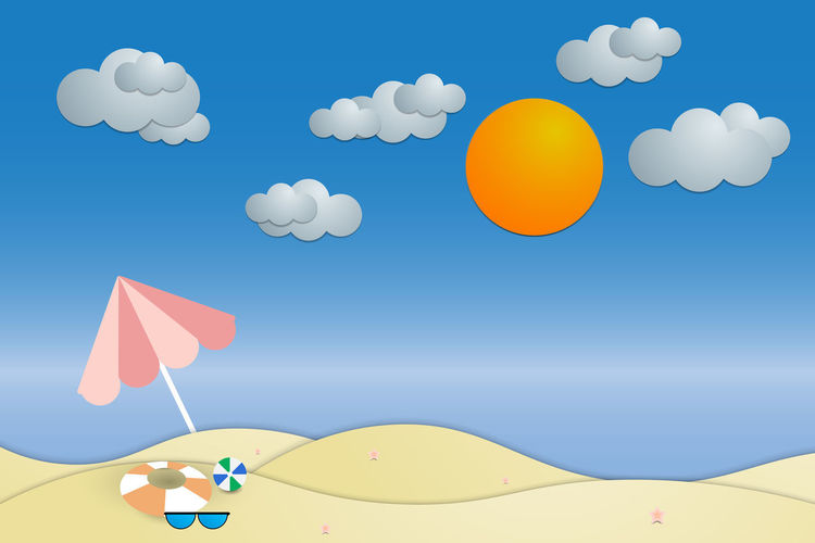 view summer beach and sea background Vector Beach Summer View Top Background Sea Vector Illustration Sand Paper Holiday Design Vacation Style Nature Blue Umbrella Travel Sun Water Seaside Tourism Art Starfish  Cut Sky Cloud - Sky No People Balloon Low Angle View Multi Colored Day Large Group Of Objects Flying White Color Outdoors Mid-air Sunlight Yellow Celebration Shape Vector Art Summer Views