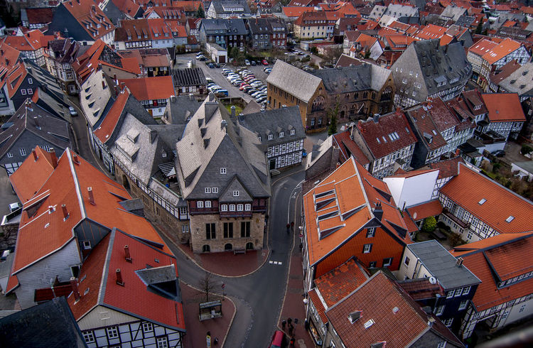 Aerial Shot World Heritage Goslar City Goslar Germany Eagle Eyes View Aerial Aerial Photography Aerial View Architecture Building Building Exterior Built Structure City Cityscape Crowd Crowded Day Full Frame High Angle View House Outdoors Residential District Roof Roof Tile Settlement Town TOWNSCAPE