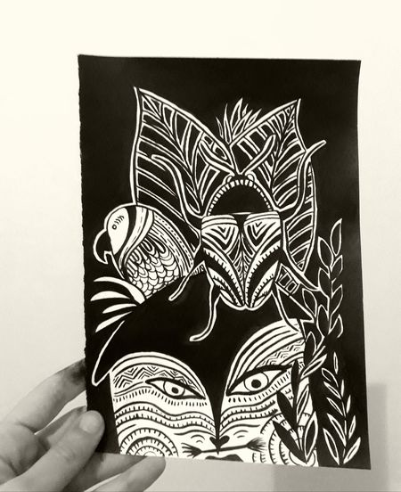 Drawing - Art Product Pencil Drawing Nanquim Indegenous Roots Pinturas Futuristic Bodypaint Posca Indegenous EyeEmNewHere BLACKBOOk Nature Drawings Draws Naturelovers Snakes Are Beautiful White Flowers Flower Draw Botanic Pomagranate Bothanical Ink Botanical