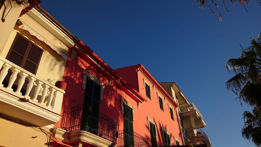 Mediterranean  Architecture Blue Building Exterior Built Structure Clear Sky Day Low Angle View No People Outdoors Sky