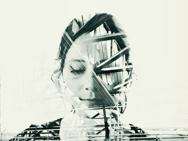 City 2.0 - The Future Of The City : the transparent woman. no more privacy. ( Fltrlive AMPt_community Doubleexposure )