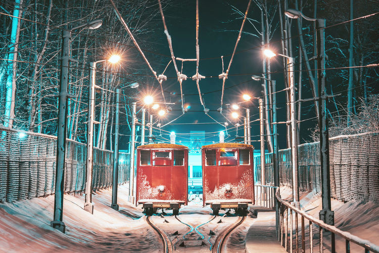 Funicular Nikon Z7 Z7 Europe Lihuanian Lietuva Kaunas Funicular Funicular Railway Funicular Station Funiculartrain Night Winter Snow Illuminated Lighting Equipment Street Light Street Technology Transportation Rail Transportation Connection No People Electricity  Mode Of Transportation Outdoors Light Metal Nature Glowing Public Transportation Architecture Electrical Equipment My Best Photo