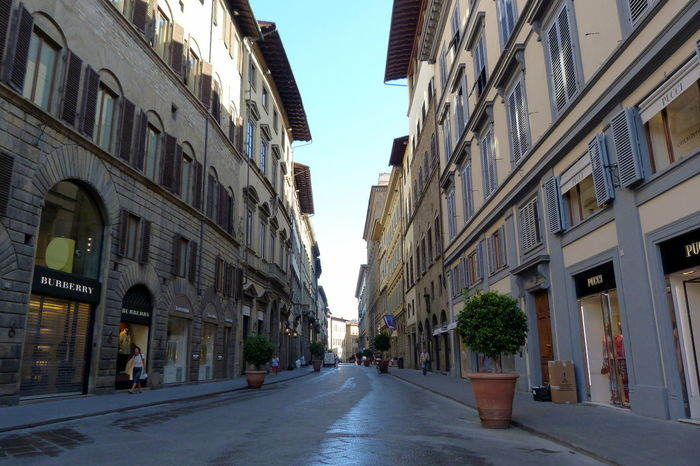 Architecture Car City City Life City Street Day Diminishing Perspective Florence Growth Modern Narrow Office Building Outdoors Road Sky Street Street Photography Surface Level Tall - High The Way Forward Transportation Travel Destinations Vanishing Point
