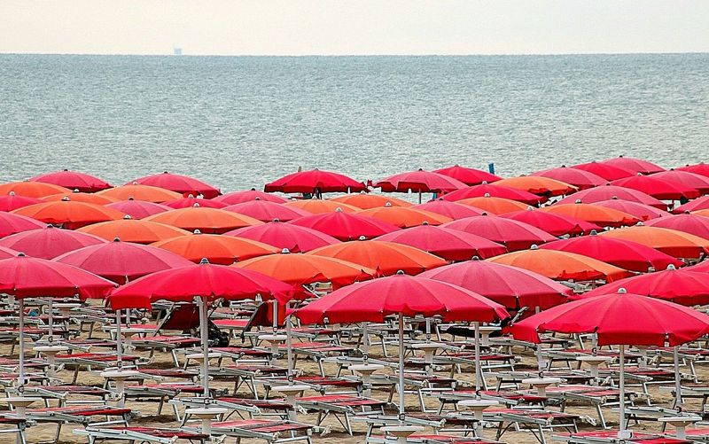 Red Outdoors Day Beach Sea No People Water Nature Beauty In Nature Sky Ravenna Puntamarina Ombrelloni Romagna I ❤U! Romagna