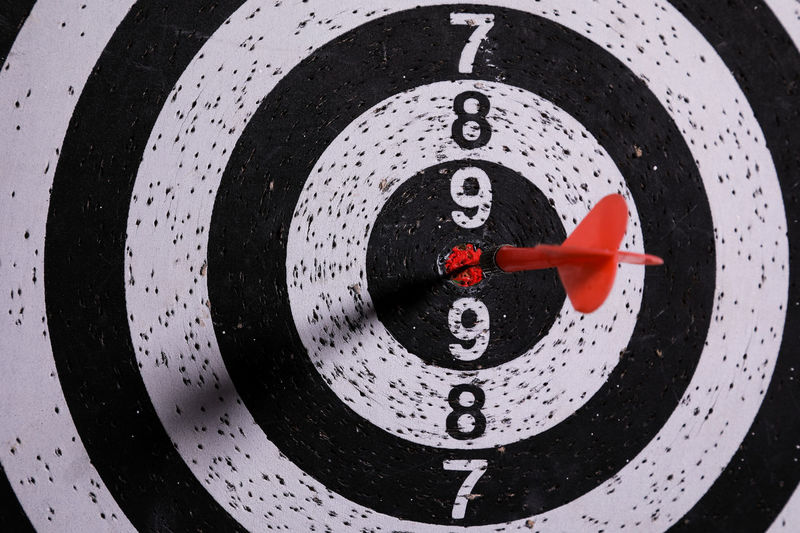 Close-up of sports target