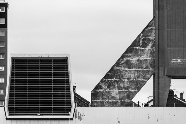 Liverpool Spaceport Built Structure Architecture Building Exterior Building Low Angle View Design Wall - Building Feature Spaceport Vent Blackandwhite Black And White Black & White Architecture_collection