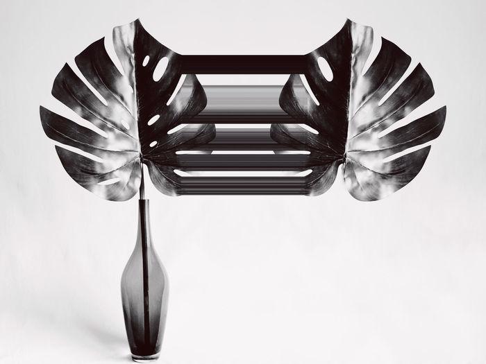 High angle view of glass on table