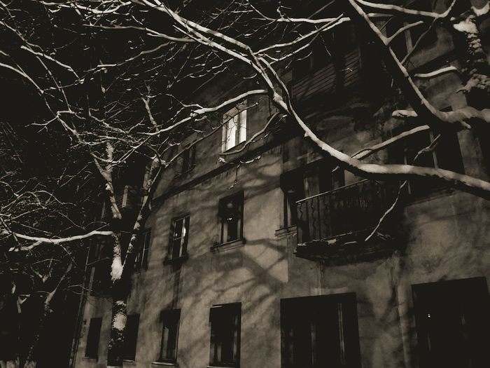 Зимнееокно Window заснежило вдохновение ночной город НижнийНовгород No People Night Новый год