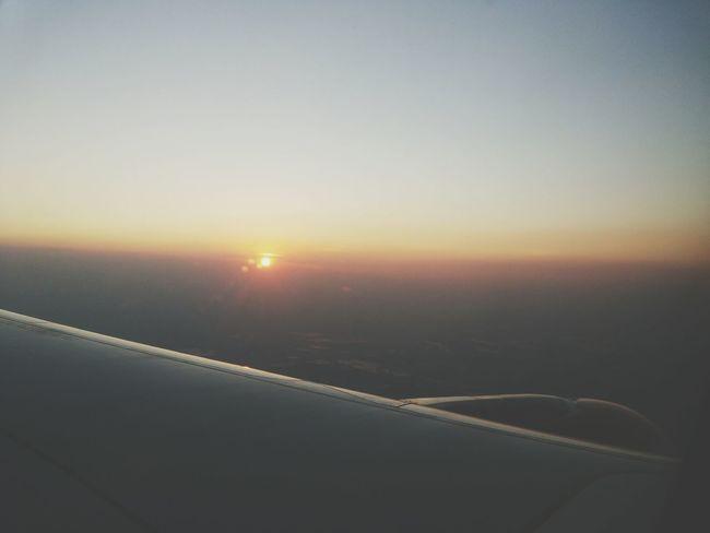 coming home... Airplane Sunset Yangon, Myanmar Air Asia