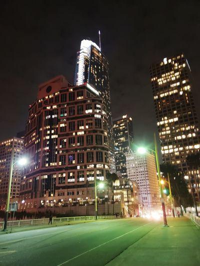 City Illuminated Sport Skyscraper Ice Rink Urban Skyline Office Building