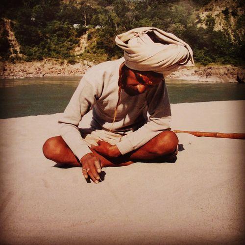 India Ganga Ganga River Sadhu India Indiapictures