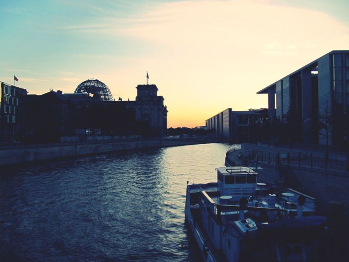 Cityscapes Berlin Blue Hour Political District Open Edit Sunset_collection