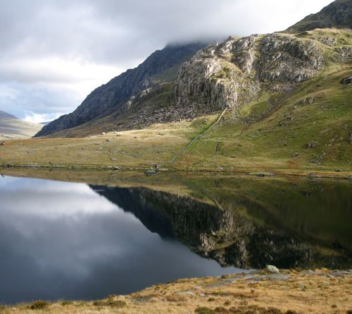 snowdonia north wales, Water Reflection Scenics Tranquil Scene Lake Mountain Beauty In Nature Tranquility Non-urban Scene Majestic Sky Remote Calm North Wales