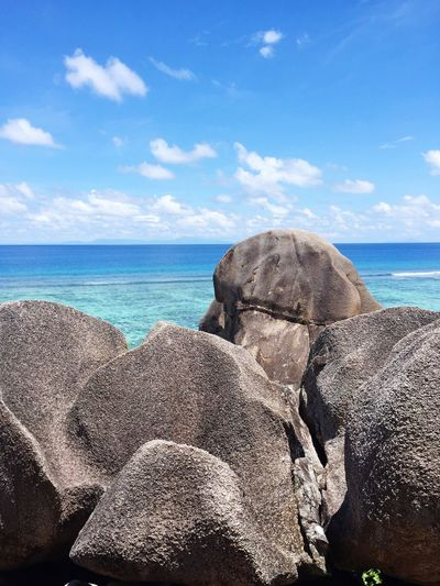 Indian Ocean Rocks La Digue EyeEm Selects Sea Sky Water Horizon Over Water Nature Day No People Cloud - Sky Beauty In Nature Beach Outdoors Scenics
