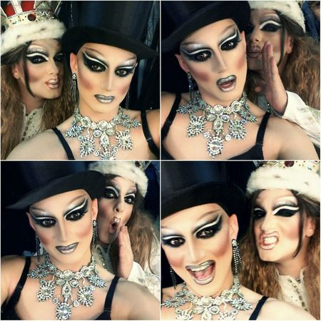 Selfie Dragqueen  Popular Photo Backstage www.crystalshow.com.ua