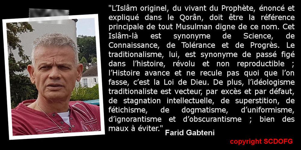 Farid Gabteni Islam Originel Le Soleil Se Lève à L'Occident Musulmans Prophet Science Traditionalisme Idéologique