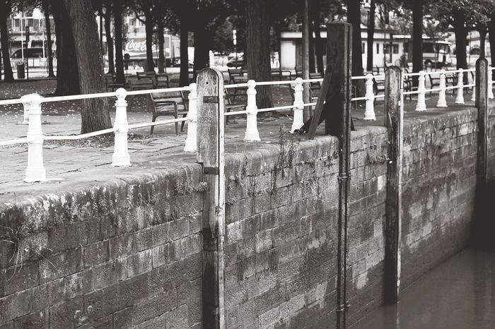 In A Row Repetition Outdoors Day Tranquility No People Large Group Of Objects Black And White Black & White Wall Kaai