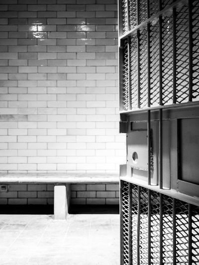 Holding cell in the former Supreme court of Singapore, people would be held here temporarily before trial 1 Architectural Feature Architecture Black & White Black And White Blackandwhite Building Built Structure Courthouse In Trouble Indoors  Internal Architecture Jail Jailhouses Locked Monochrome Repetition Trouble