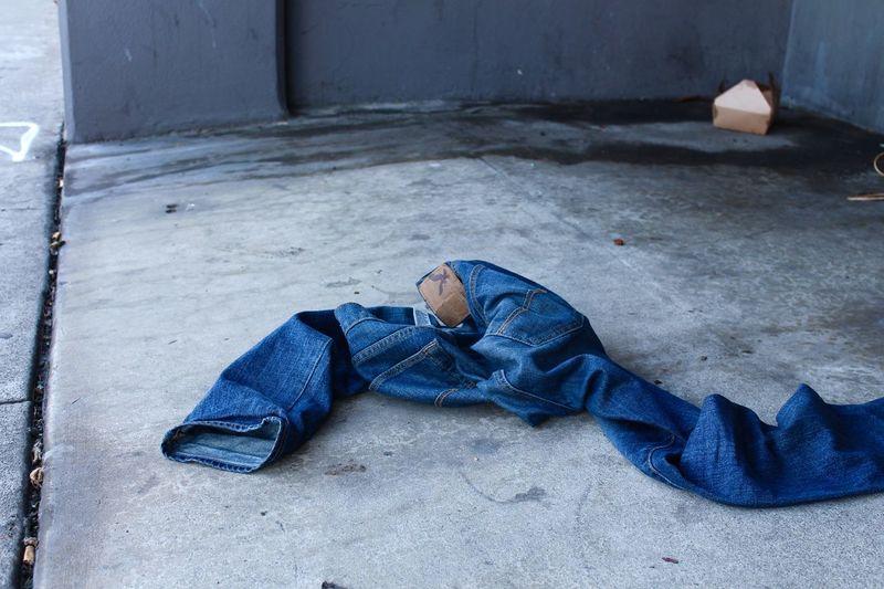 Man lying down on floor
