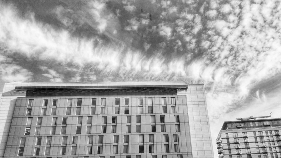 Weird vertebrae clouds HDR Clouds And Sky Blackandwhite Hdr_Collection
