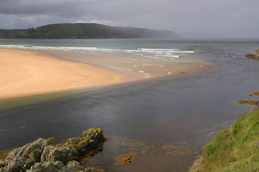 Bettyhill North Coast 500 River Naver Scotland Beach Beauty In Nature Day Landscape Mountain Nature No People Outdoors River Mouth Sand Scenics Scottish Highlands Sea Sky Tranquil Scene Tranquility Water