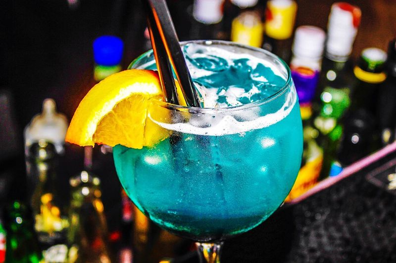 BlueMarine💎 Focus On Foreground Close-up No People Glass Indoors  Glass - Material Still Life Decoration Multi Colored Cocktail Night Celebration Nightlife Refreshment Freshness Food