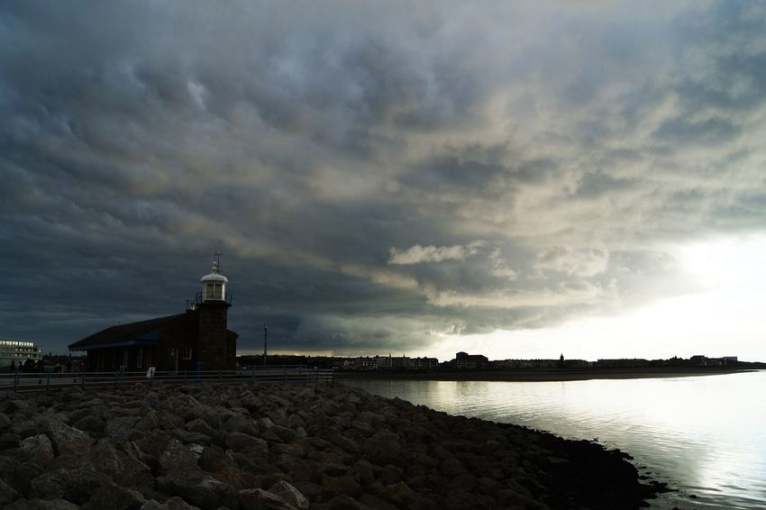 Architecture Bay Building Exterior Built Structure Cloud Cloud - Sky Day England, UK Great Britain Moody Moody Sky Moody Sky Morecambe Outdoors Scenics Sea Seaside Sky Stone - Object Sun Sunbeam Surface Level Tranquil Scene Tranquility Water