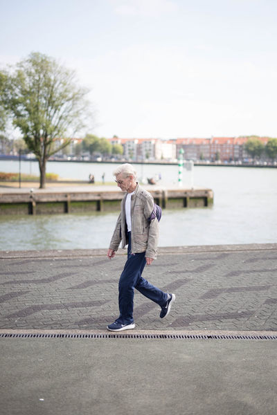 Backpack Casual Clothing City Motion Rotterdam Selective Focus Walking Waterfront Zerofotografie.nl