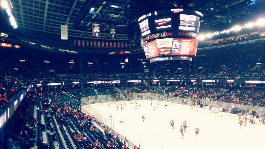 Starting A Game NHL 2015  Flames Vs Avalanche  Saddledome Calgary