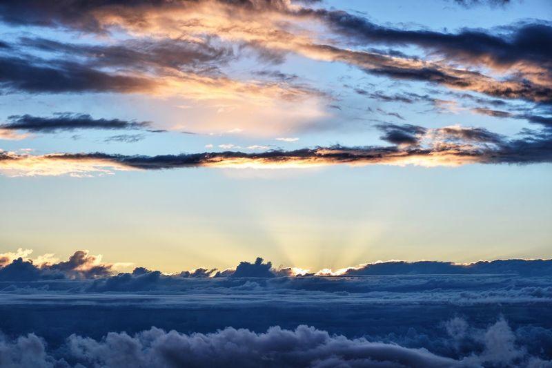 Cumulus Clouds And Sky