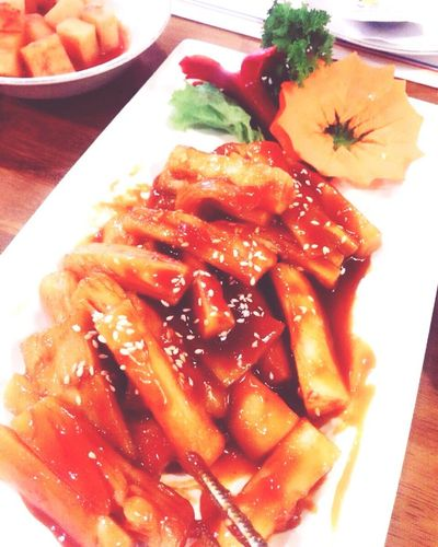 my fav Tapoki Koreanfood Hikorea