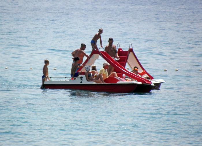 Croatian Adriatic coast by summer,Baska,Europe,5 Baska,Croatia Europe The Week On EyeEm Adriatic Coast Adriatic Sea Beach Day Family Fun Holidays Outdoors Recreation  Relaxation Sea Summer Vacations Water Water