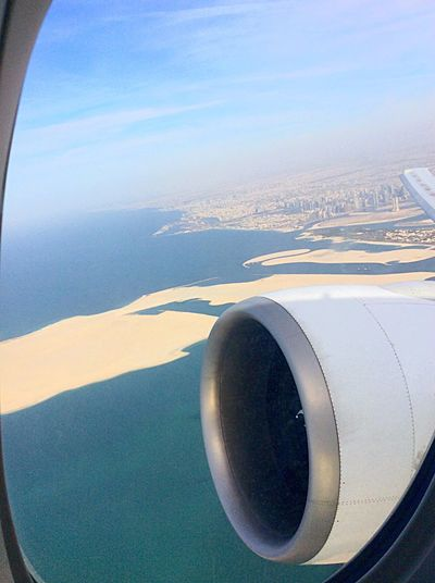 The Journey Is The Destination Emiratesairline Dubai From The Plane Window From My Point Of View From An Airplane Window From My Window Earth Sky Clouds Travel By Puk✈️ Travel Photography On The Plane