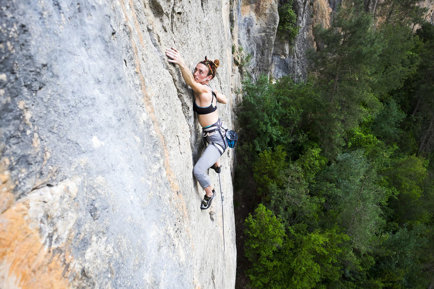 Big Wall Brave Girl Brave Woman Climb Climber Climbing Climbing Wall Cute Climber Extreme Sport Extreme Sports Mountaineering Pretty Climber Strong People Wide View Woman Climber