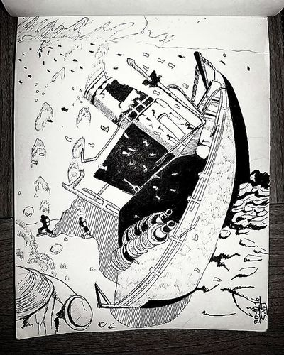 Inktober day 30 wreck Tagsforlikes Art, Drawing, Creativity Drawning Sketch Inktober Drawings Draw Paper Art Gallery Arts Illustration Inktober2016 Ink Drawing Black And White Art Russia Lost