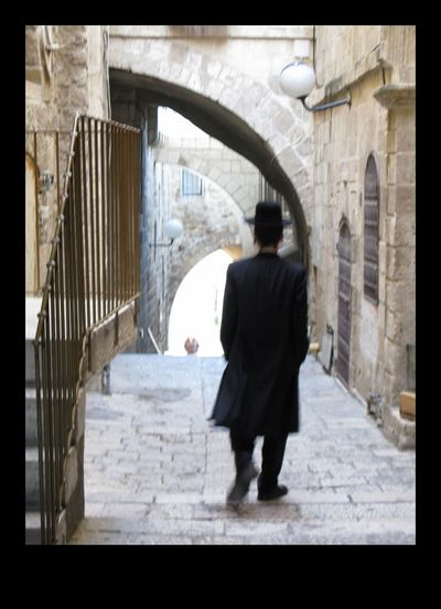 Jewish Quarter Israel Architecture Full Length Transfer Print Rear View Built Structure Real People EyeEmNewHere